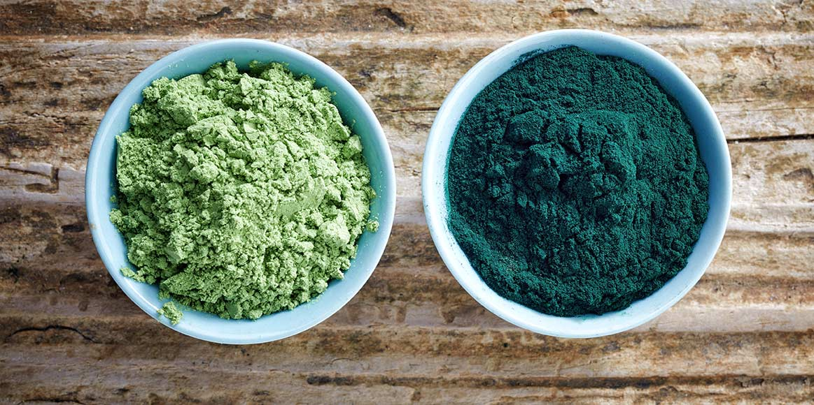 bowl-of-spirulina-algae-powder-and-wheat-sprout-PRAUMAT
